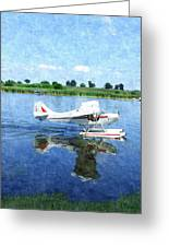 Gliding Between Two Worlds Greeting Card