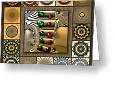 Glimmering Afternoon Redux Greeting Card