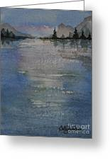 Glimmering Water Greeting Card