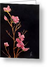 Glistening Blossoms Greeting Card