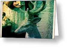 Glittered Deer Greeting Card