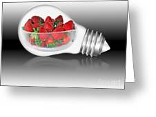 Global Strawberries Greeting Card