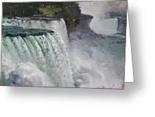 Gloomy Day At Niagara Falls Greeting Card
