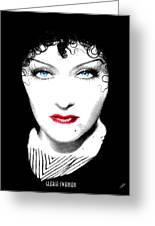 Gloria Swanson - Edith Piaf Greeting Card