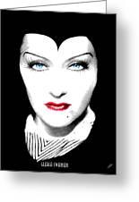 Gloria Swanson Malefica Greeting Card