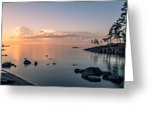 Glorious End Of The Day. Valaam. Northern Russia Greeting Card
