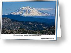 Glorious Mount Adams Greeting Card