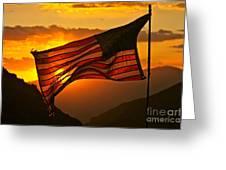 Glory At Sunset Greeting Card