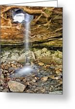 Glory Hole Waterfall Portrait Greeting Card