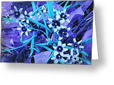 Glory Of The Snow - Violet And Turquoise Greeting Card
