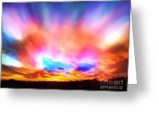 Glory Sunset Greeting Card