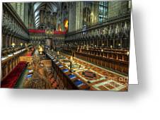 Gloucester Cathedral Choir Greeting Card