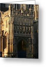 Gloucester Cathedral Entrance Greeting Card