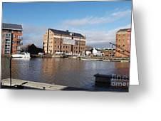 Gloucester Historic Docks 3 Greeting Card