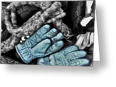 Gloves And Frost Greeting Card