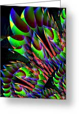Glow In The Dark Abstract Greeting Card