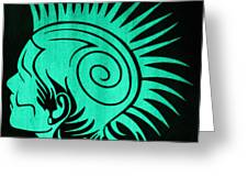 Glow In The Dark Tribal Punk Greeting Card