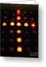 Glow Of A Cross Greeting Card