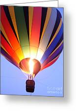 Glowing Balloon Greeting Card
