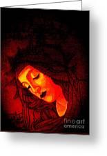 Glowing Botticelli Madonna Greeting Card