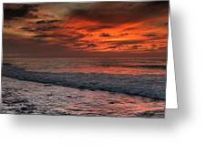 Glowing Cherry Sunset Greeting Card