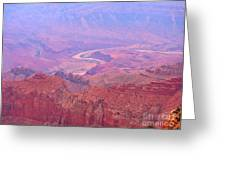 Glowing Colors Of The Grand Canyon Greeting Card