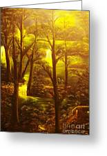 Glowing Evening Falls-original Sold- Buy Giclee Print Nr 28 Of Limited Edition Of 40 Prints   Greeting Card