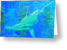 Glowing Hammerhead Shark Greeting Card