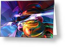 Glowing Life Abstract Greeting Card