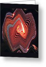 Glowing Lines Greeting Card