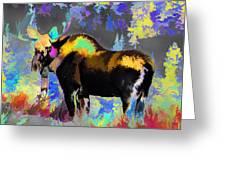Electric Moose Greeting Card