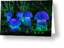 Glowing Mushrooms Greeting Card