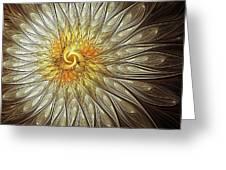 Glowing Petals Greeting Card