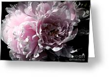 Glowing Pink Peony Greeting Card