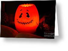 Glowing Pumpkin Greeting Card