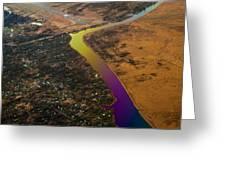 Glowing River. Rainbow Earth Greeting Card