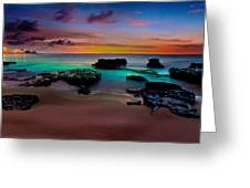 Glowing Sandy Greeting Card