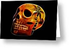Glowing Skull Greeting Card