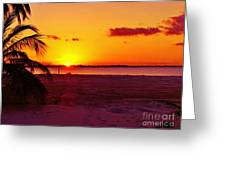 Glowing Sunset Greeting Card