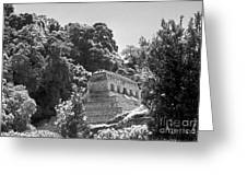 Glowing Temple Palenque Mexcio Greeting Card