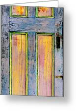 Glowingthrough Painted Door Greeting Card