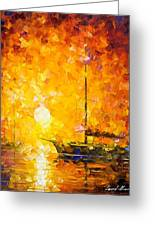 Glows Of Passion - Palette Knife Oil Painting On Canvas By Leonid Afremov Greeting Card