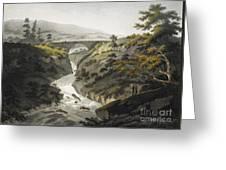 Glyn Diffwys Stone Bridge, Wales, 1800 Greeting Card