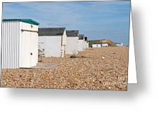 Glyne Gap Beach Huts In Sussex Greeting Card
