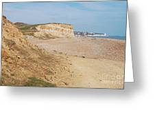 Glyne Gap Cliffs In Sussex Greeting Card