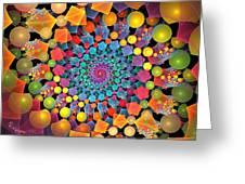 Glynnsims Spiral Fiesta Greeting Card