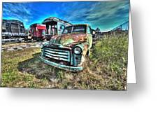 Gmc Coal Truck 1950s No 1 Greeting Card