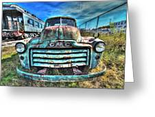 Gmc Coal Truck 1950s No 3 Greeting Card