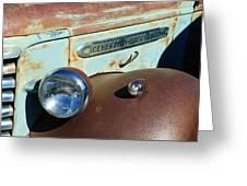 Gmc Truck Side Emblem Greeting Card