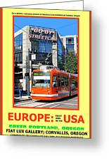 Go By Streetcar Greeting Card